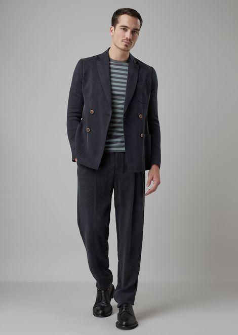 Tokyo range slim-fit jacket in washed ottoman