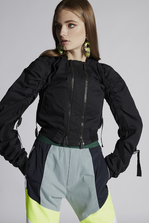 DSQUARED2 Stretch Cotton Twill Sparrowhawk Bomber Jacket Woman