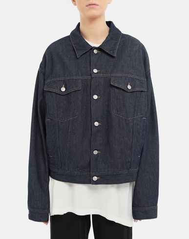 COATS and JACKETS Oversized denim jacket Blue