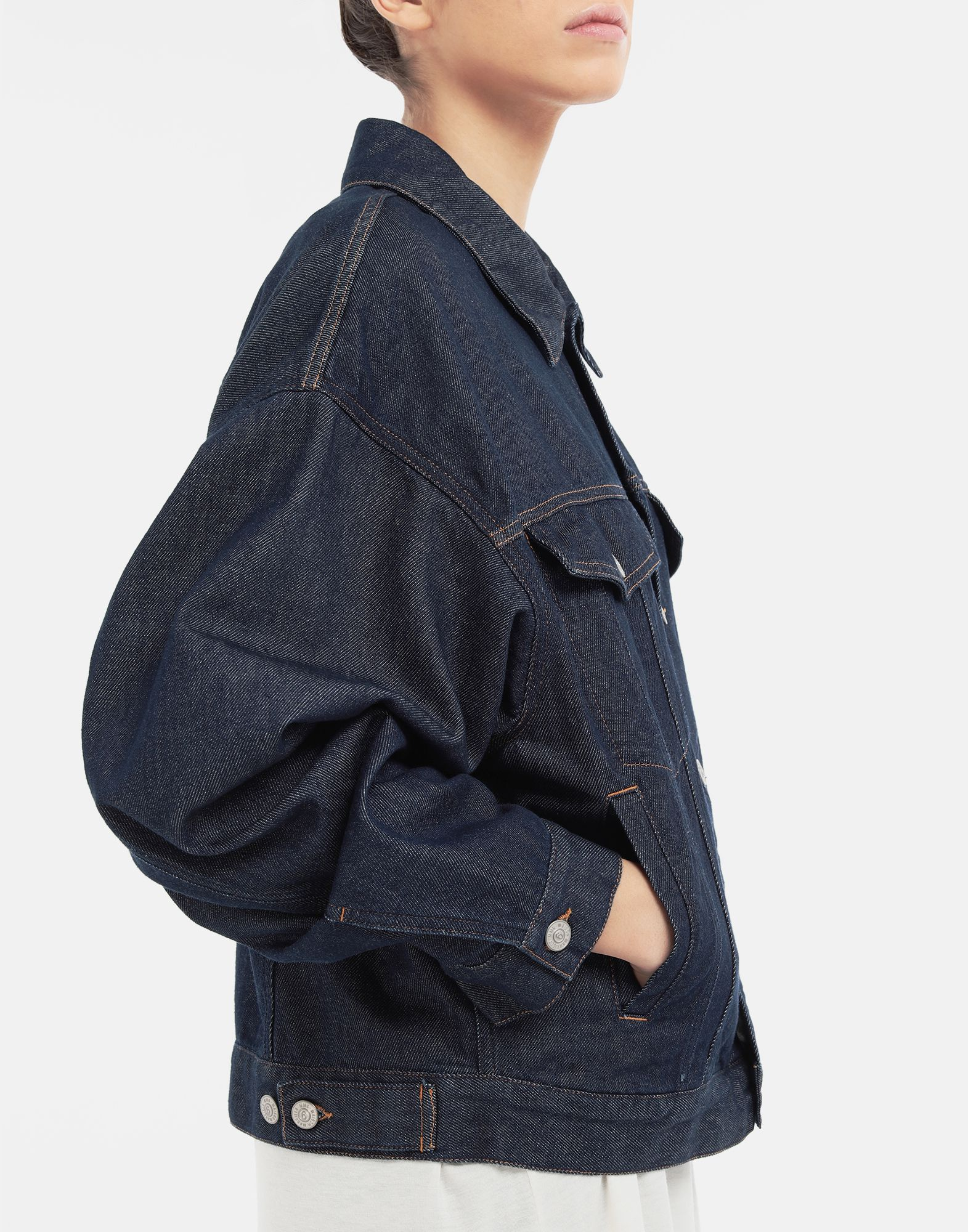 MM6 MAISON MARGIELA Oversized denim jacket Light jacket Woman a
