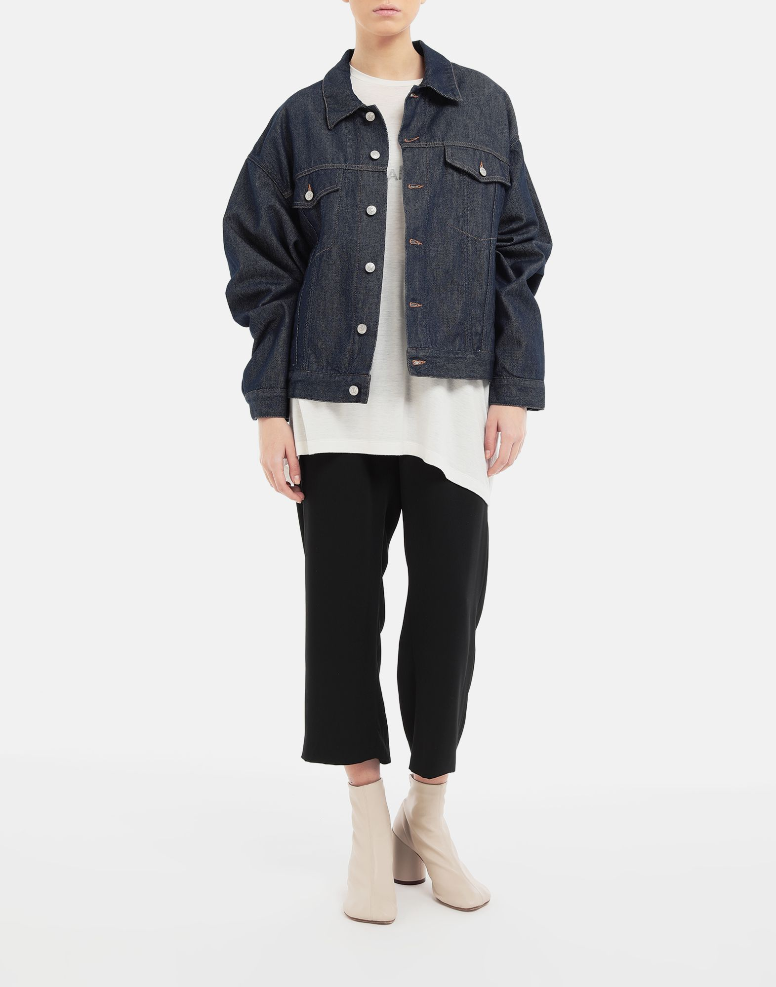 MM6 MAISON MARGIELA Oversized denim jacket Light jacket Woman d