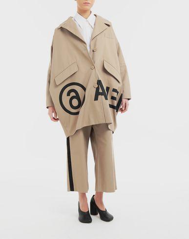 COATS and JACKETS Reversed logo coat Beige