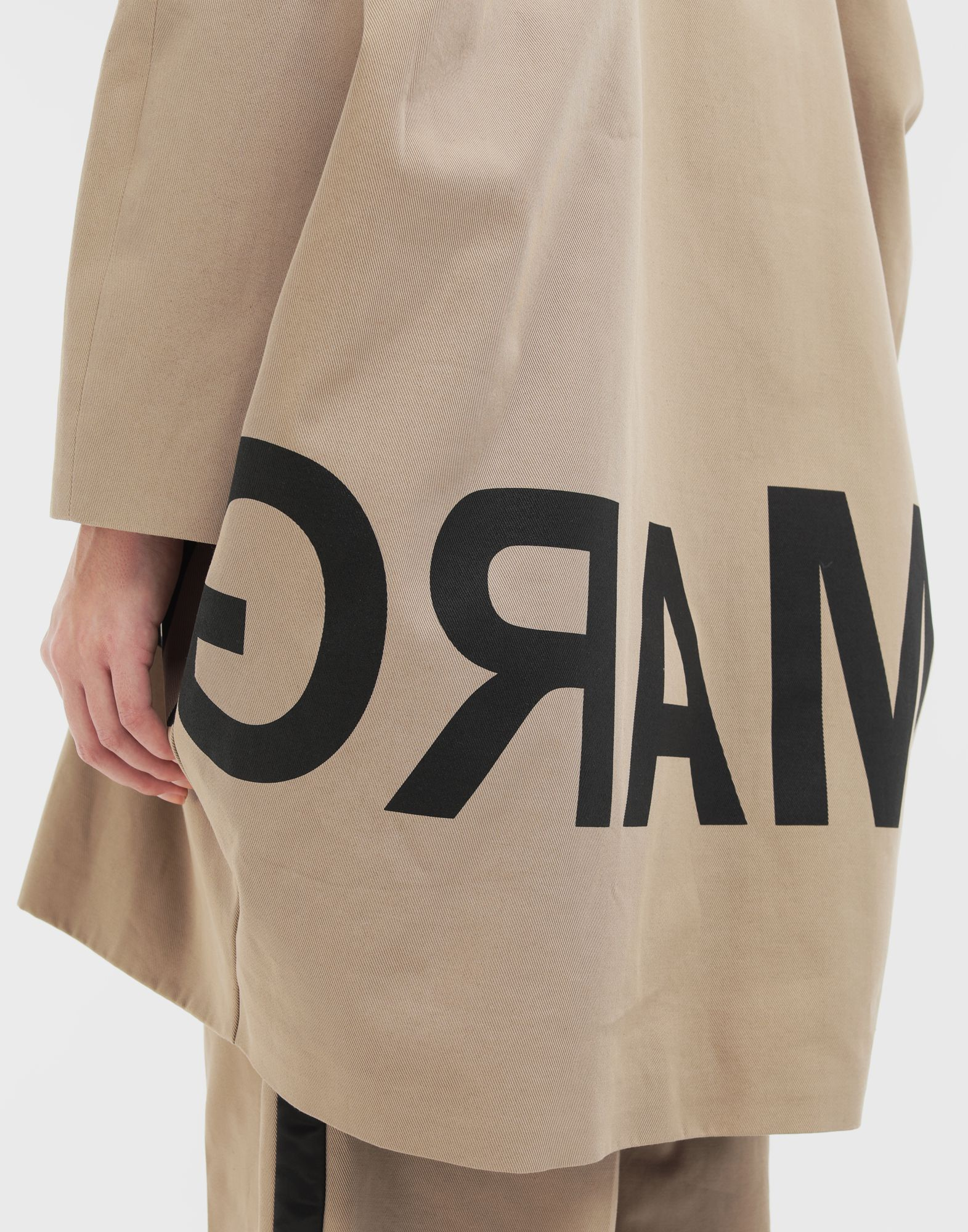 MM6 MAISON MARGIELA Reversed logo coat Coats and Trenches Woman b