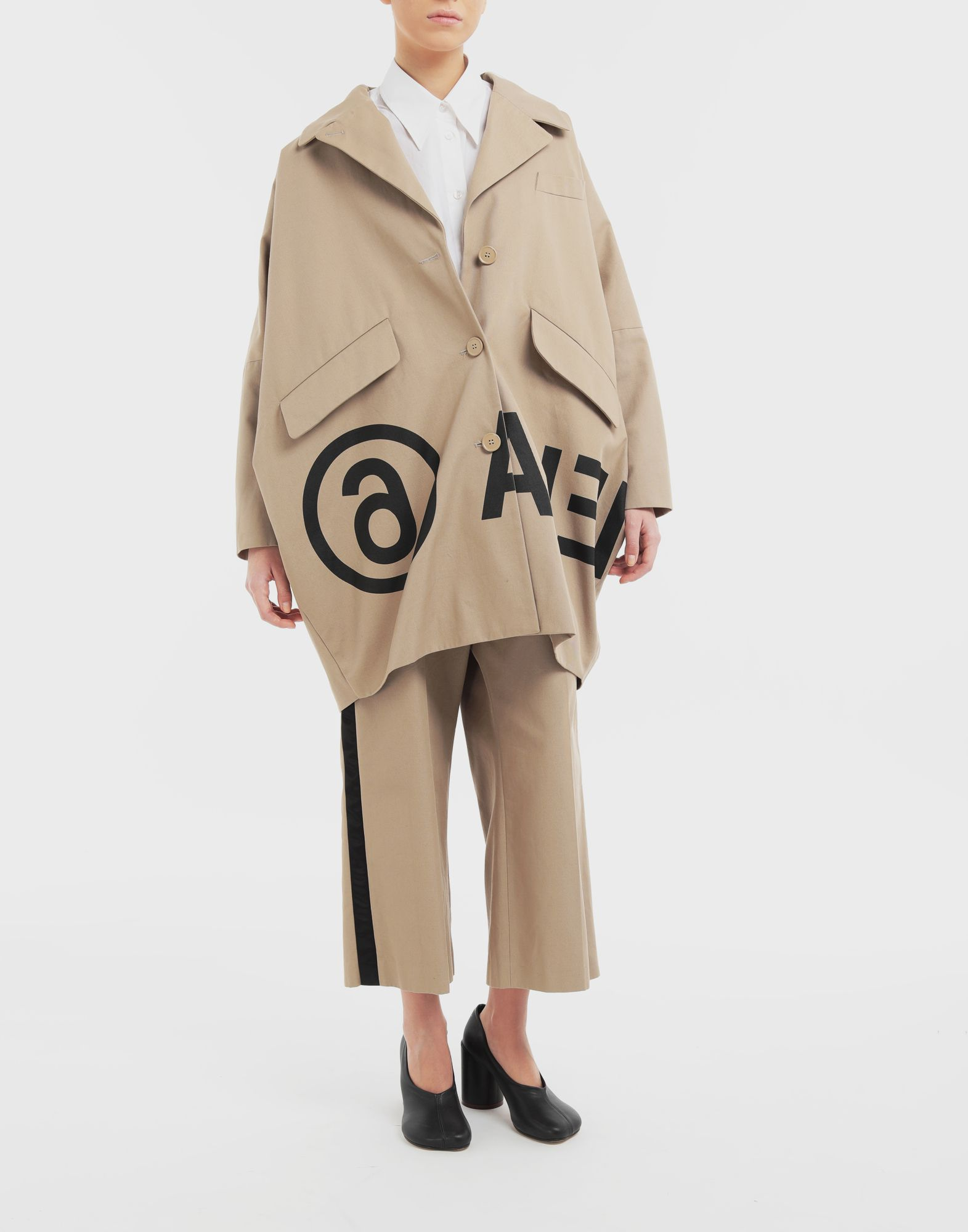 MM6 MAISON MARGIELA Reversed logo coat Coats and Trenches Woman d