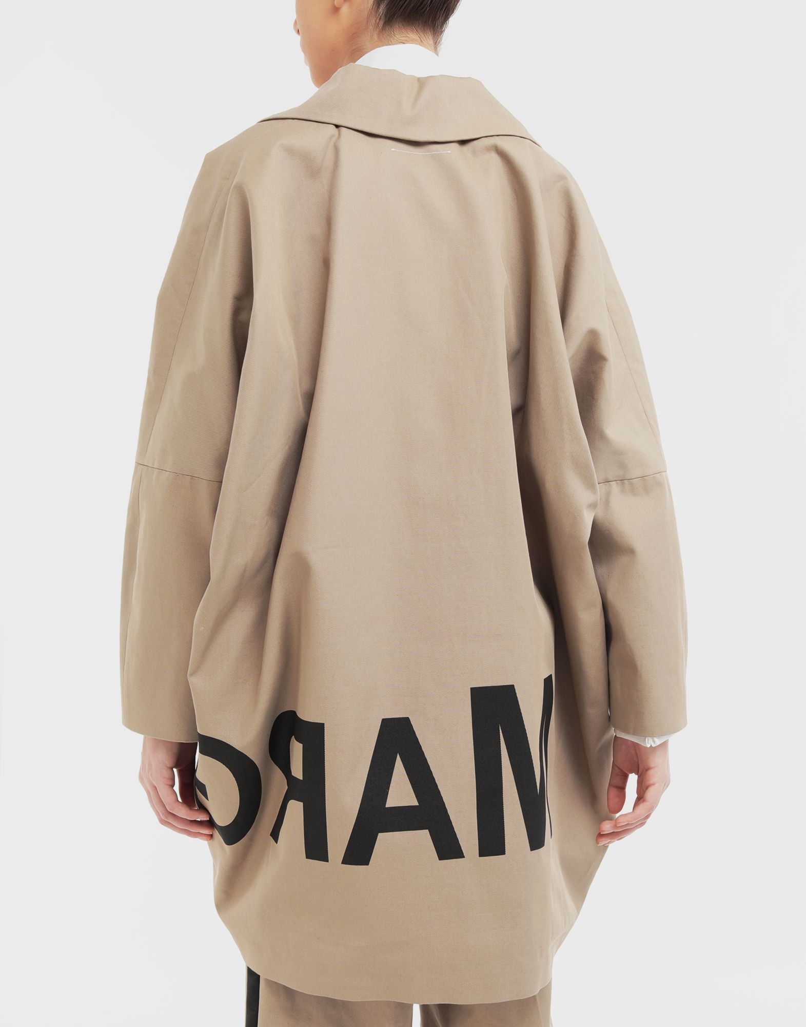 MM6 MAISON MARGIELA Reversed logo coat Coat Woman e