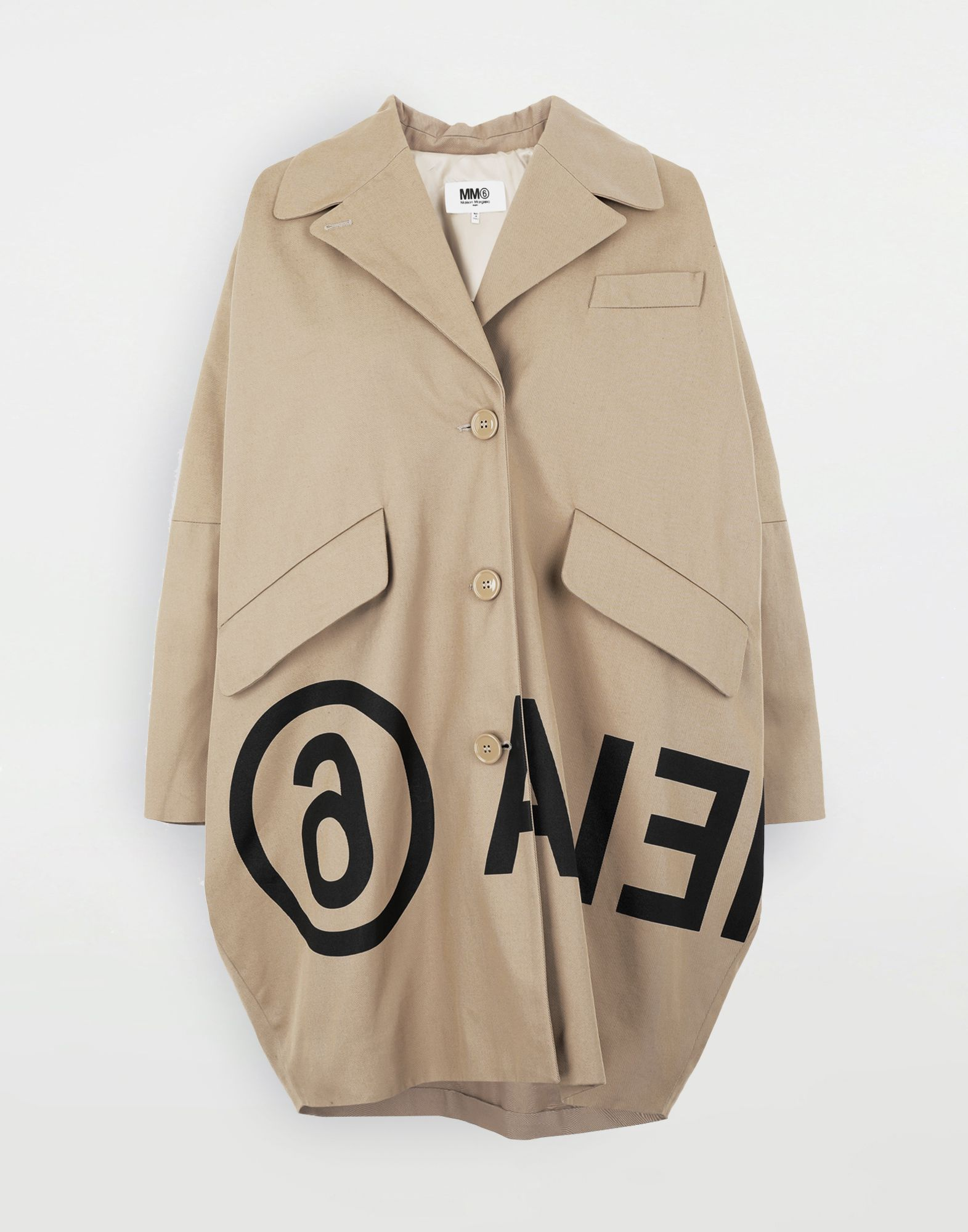 MM6 MAISON MARGIELA Reversed logo coat Coats and Trenches Woman f