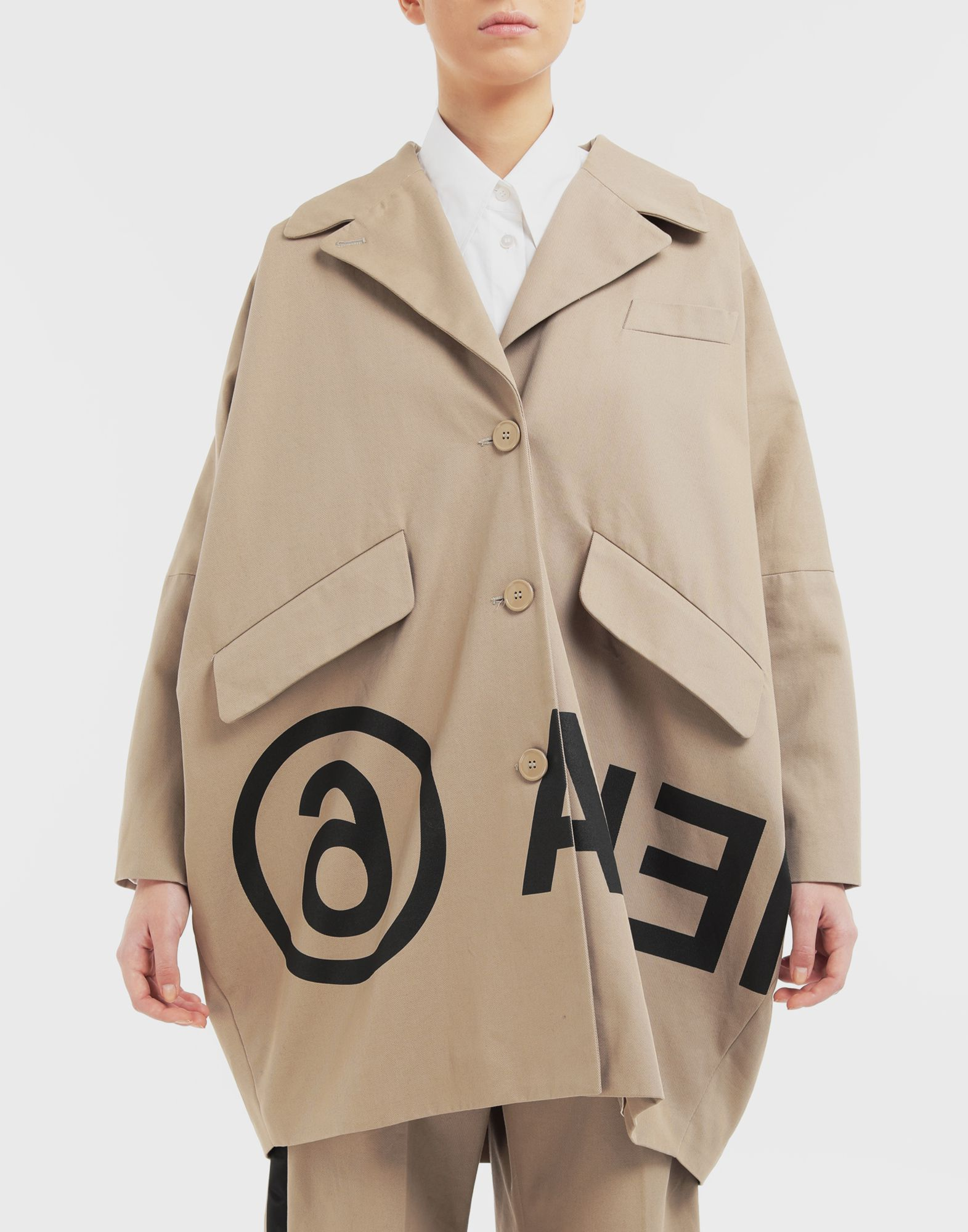MM6 MAISON MARGIELA Reversed logo coat Coats and Trenches Woman r