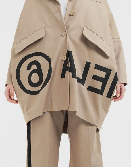 MM6 MAISON MARGIELA Reversed logo coat Coat Woman a