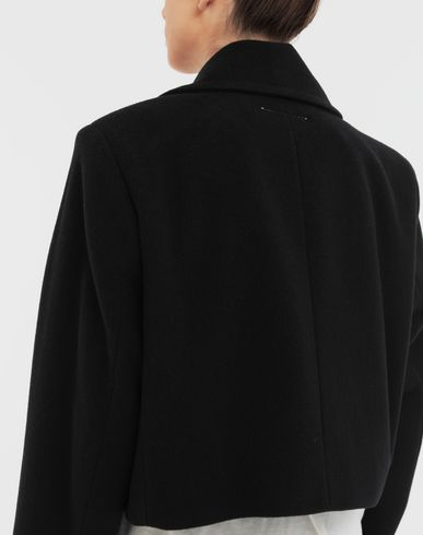 COATS and JACKETS Jacket with strings Black