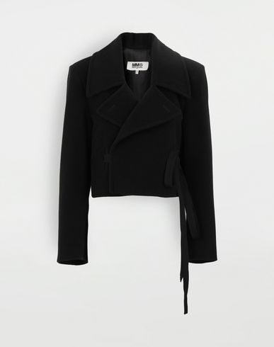 MM6 MAISON MARGIELA Jacket with strings Light jacket Woman f