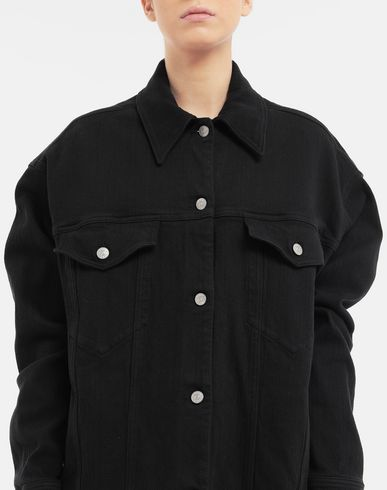 COATS and JACKETS Oversized shirt Black