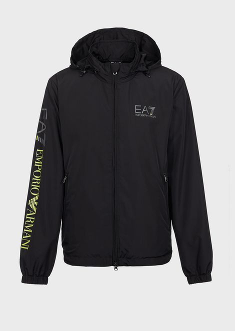 Blouson in tech fabric with Train Logo print