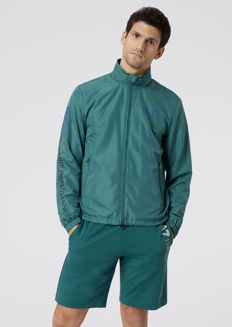 Blouson in technical fabric with Train Logo print