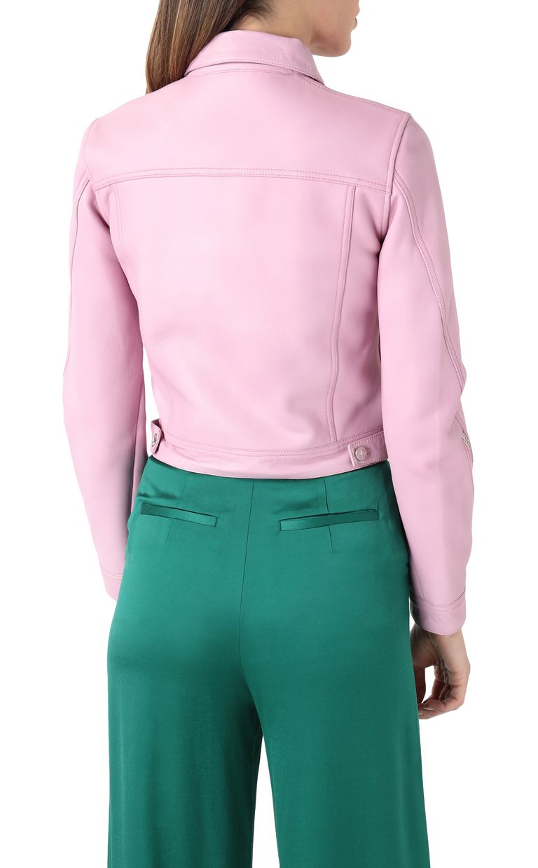 JUST CAVALLI Pink-leather jacket Leather Jacket Woman r