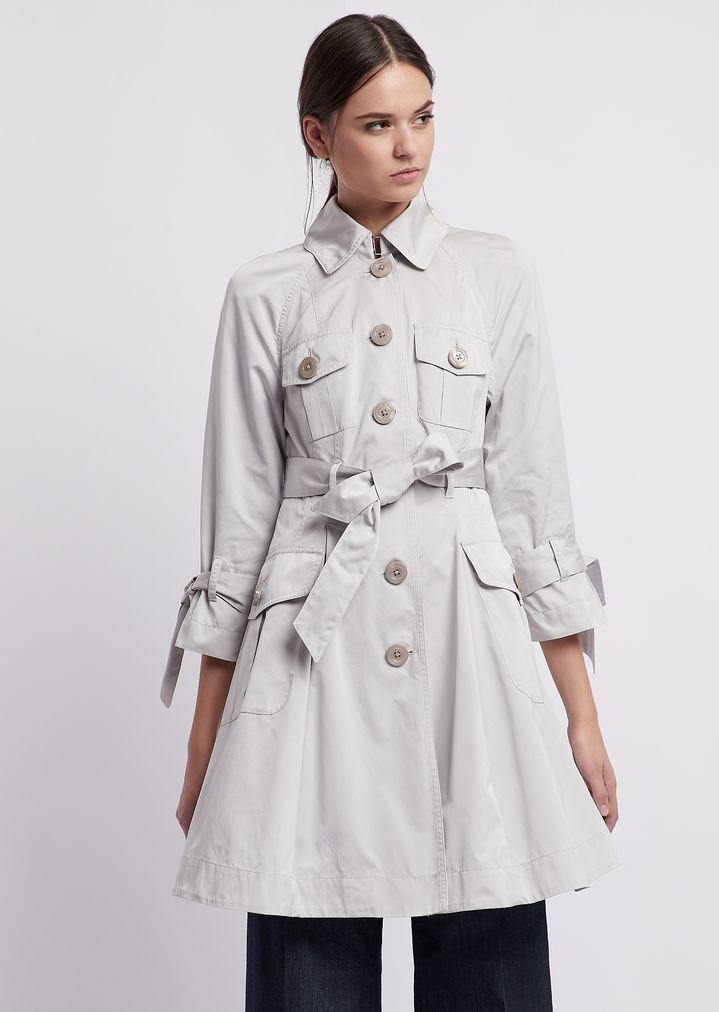499df5db Trench coat in taffeta with bows on the sleeves