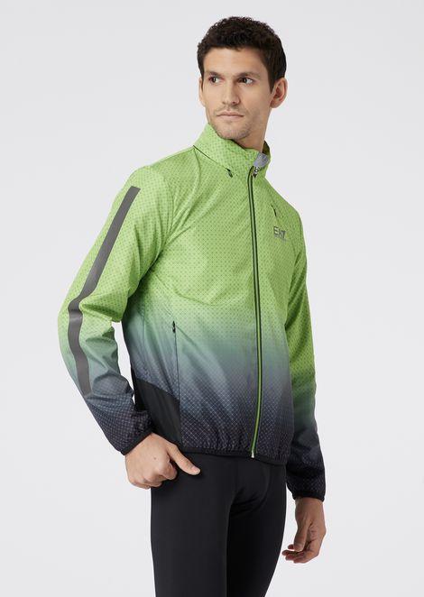 Windbreaker jacket in water repellent Ventus7 tech fabric with reflective details