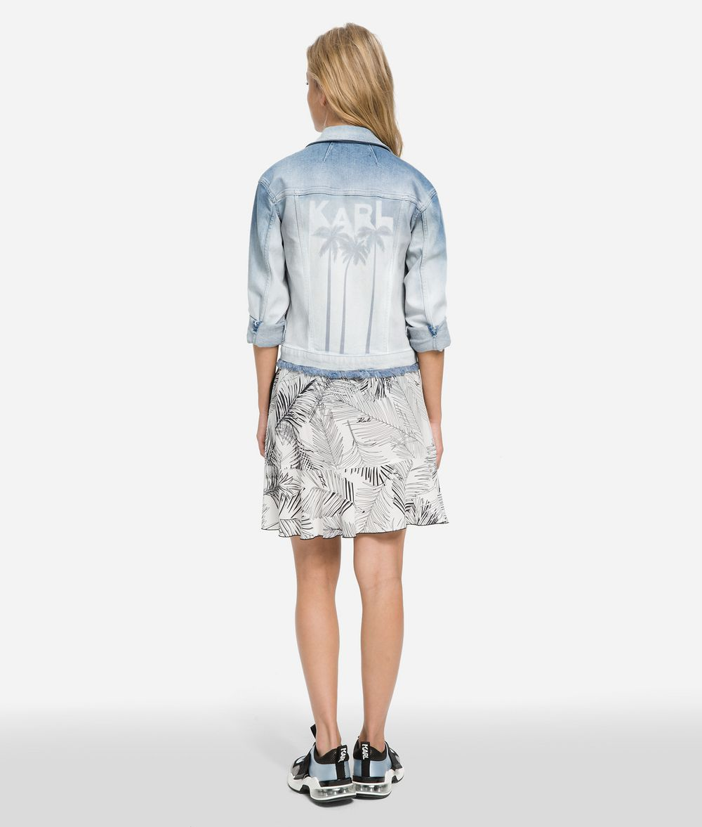 KARL LAGERFELD K/Karlifornia Denim Jacket Jacket Woman d