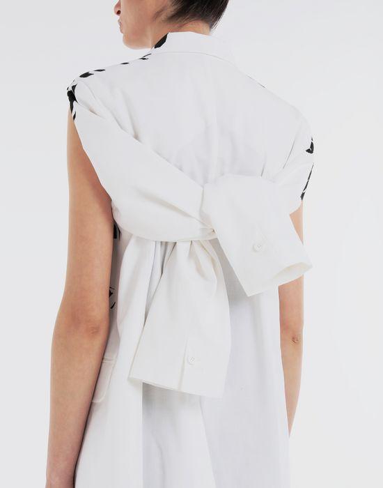 MM6 MAISON MARGIELA Charity AIDS-print cape jacket Blazer [*** pickupInStoreShipping_info ***] b