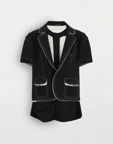 MAISON MARGIELA Décortiqué cape jacket Blazer Woman f