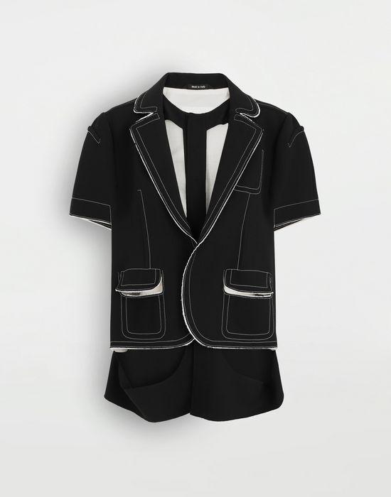 MAISON MARGIELA Décortiqué cape jacket Jacket [*** pickupInStoreShipping_info ***] f
