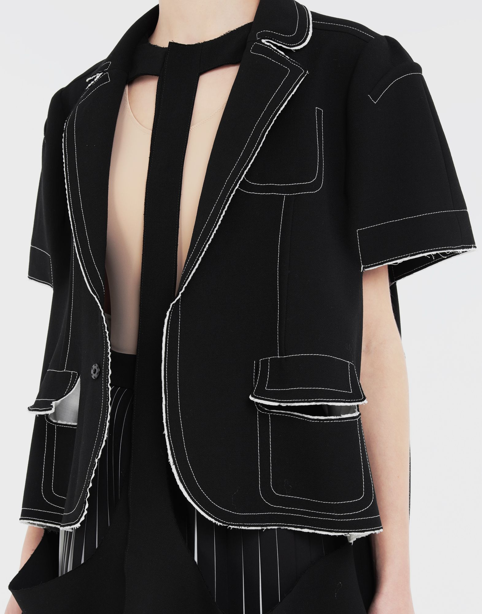MAISON MARGIELA Décortiqué cape jacket Jacket Woman a