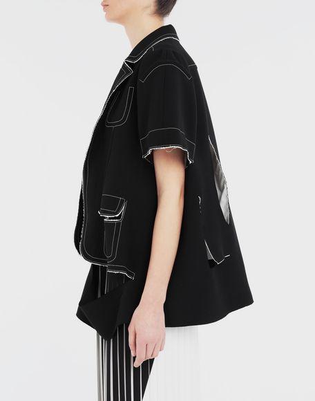 MAISON MARGIELA Décortiqué cape jacket Jacket Woman b
