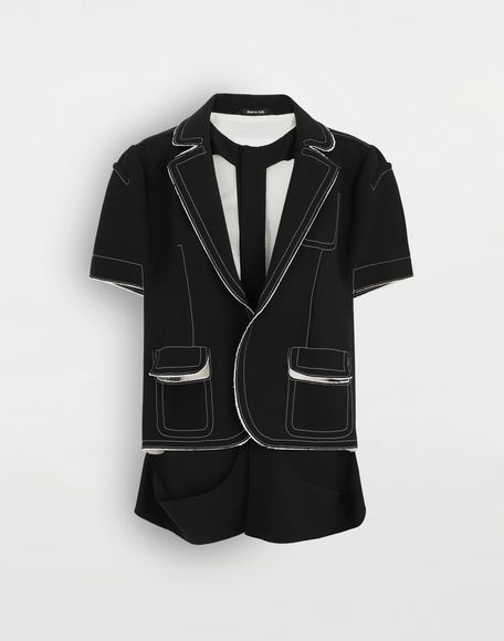 MAISON MARGIELA Décortiqué cape jacket Jacket Woman f