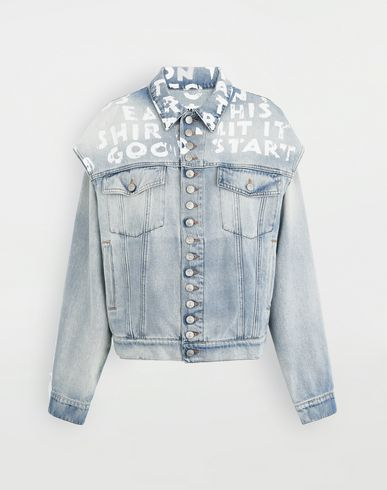 MM6 MAISON MARGIELA Charity AIDS-print jacket Jacket Woman f