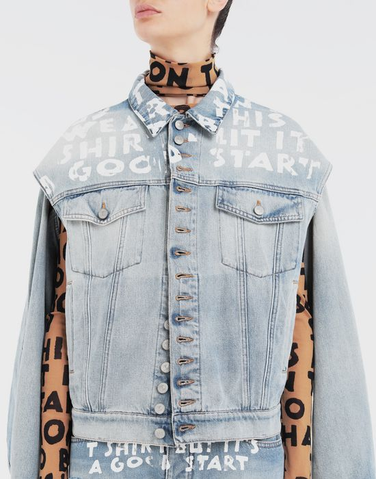 MM6 MAISON MARGIELA Charity AIDS-print jacket Jacket [*** pickupInStoreShipping_info ***] a