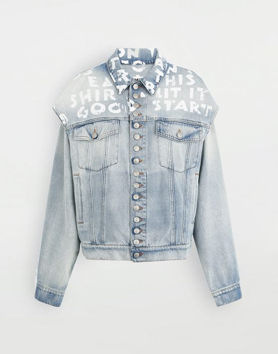 MM6 MAISON MARGIELA Charity AIDS-print jacket Jacket [*** pickupInStoreShipping_info ***] f