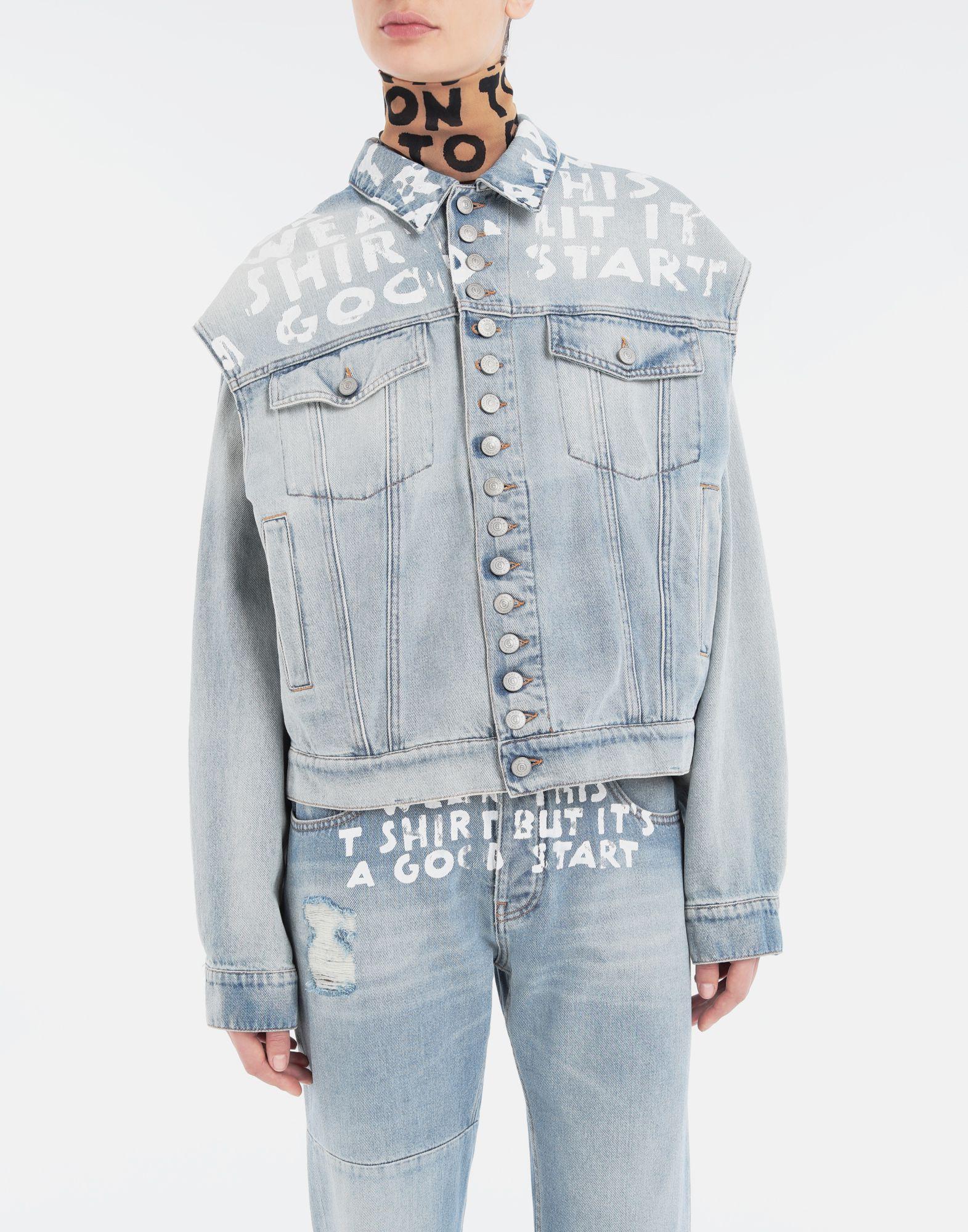 MM6 MAISON MARGIELA Charity AIDS-print jacket Light jacket Woman r