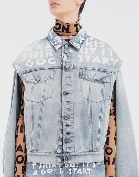 MM6 MAISON MARGIELA Charity AIDS-print jacket Light jacket Woman a