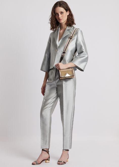 Oversized short jacket in tech batavia twill