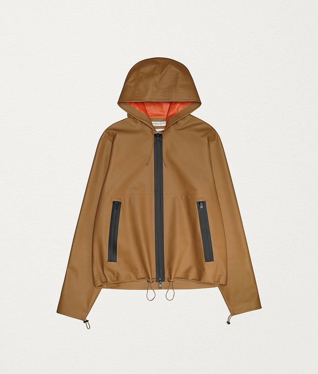 BOTTEGA VENETA ANORAK IN HIDROLOGY CALF Outerwear and Jacket Woman fp