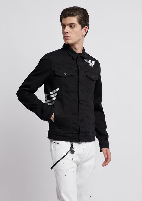 a61e478c4664 Blouson in stretch bull cotton with eagle print