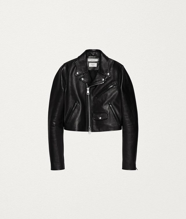BOTTEGA VENETA BIKER JACKET IN ROUGH CALF Outerwear and Jacket Woman fp