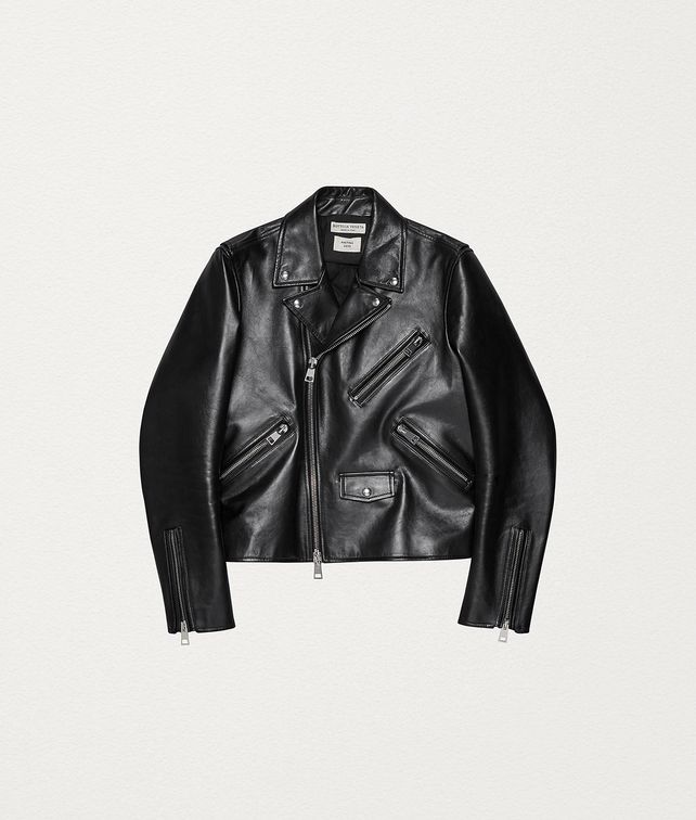 BOTTEGA VENETA BIKER JACKET IN ROUGH CALFSKIN Outerwear and Jacket Man fp