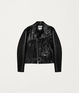 BIKER JACKET IN ROUGH CALFSKIN