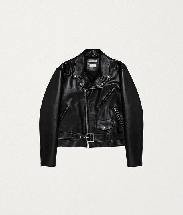 BOTTEGA VENETA BIKER JACKET IN ROUGH CALF Outerwear and Jacket [*** pickupInStoreShipping_info ***] fp