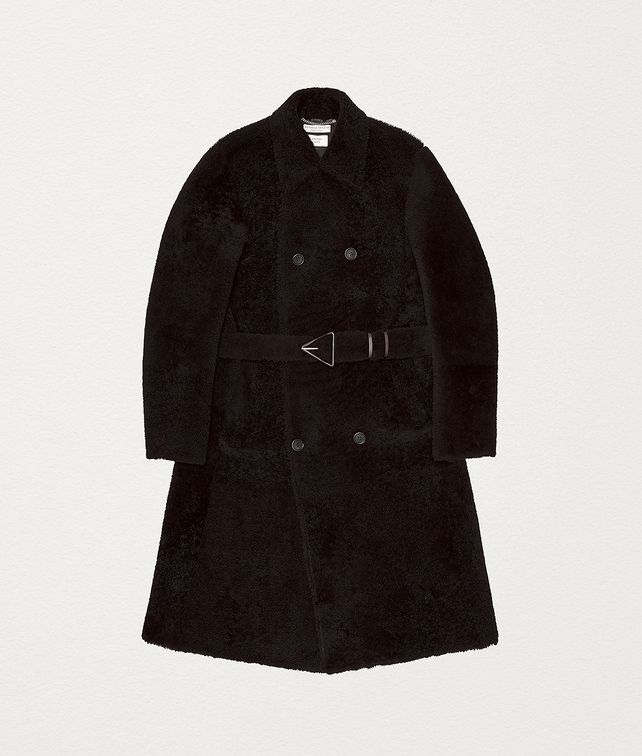 BOTTEGA VENETA TRENCH COAT IN SHEARLING Outerwear and Jacket Man fp
