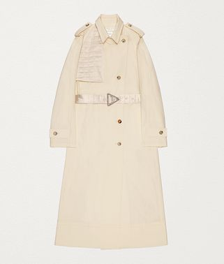 TRENCH COAT IN COTTON AND SILK