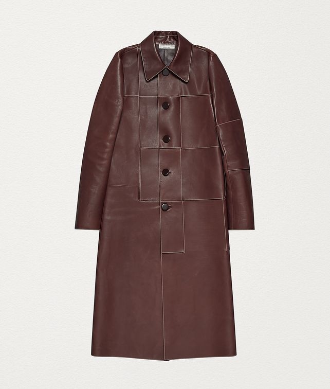BOTTEGA VENETA COAT IN CALF Outerwear and Jacket Woman fp