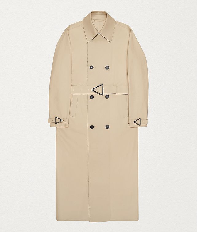 BOTTEGA VENETA TRENCH COAT IN COTTON GABARDINE Outerwear and Jacket Man fp