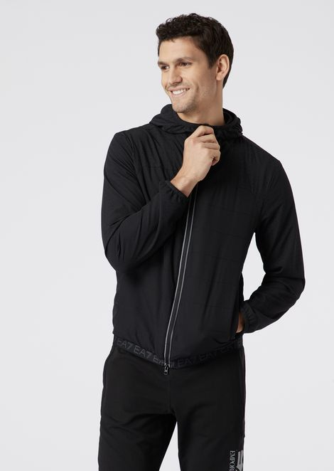 Train Evo Plus blouson in windproof, water-repellent fabric with reflective details