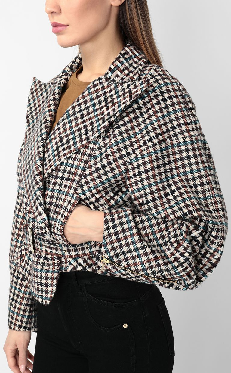 JUST CAVALLI Jacket with check pattern Coat Woman e