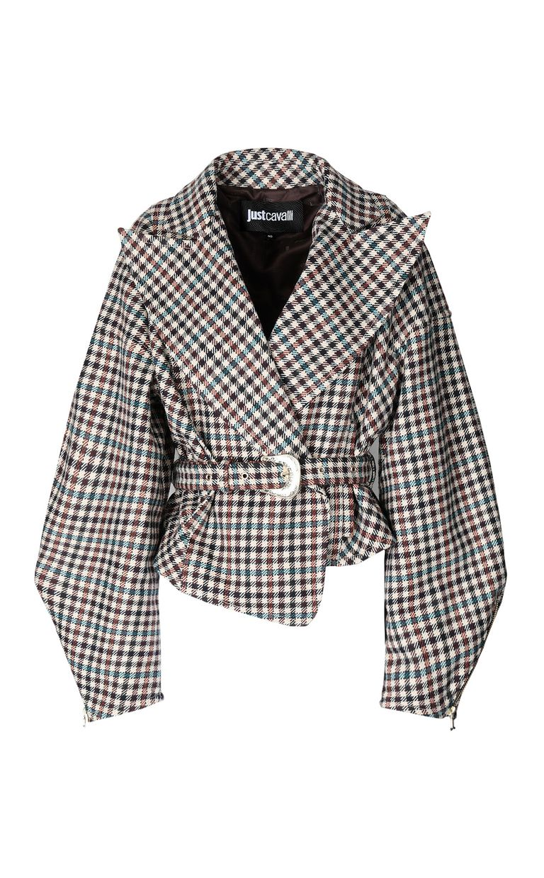 JUST CAVALLI Jacket with check pattern Coat Woman f