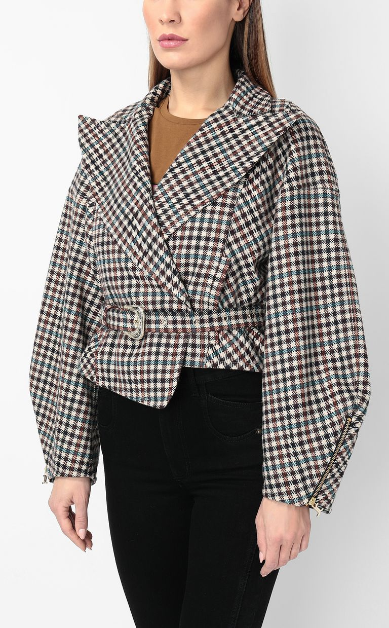 JUST CAVALLI Jacket with check pattern Coat Woman r