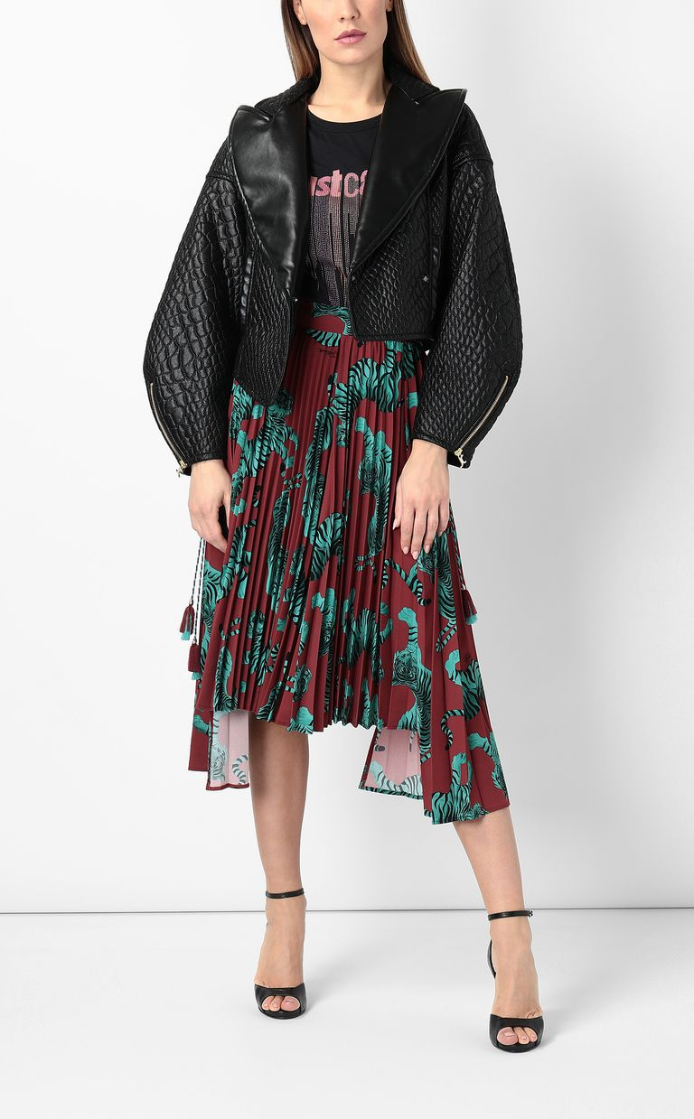 JUST CAVALLI Giacca in eco-pelle effetto trapuntato Giacca Donna d
