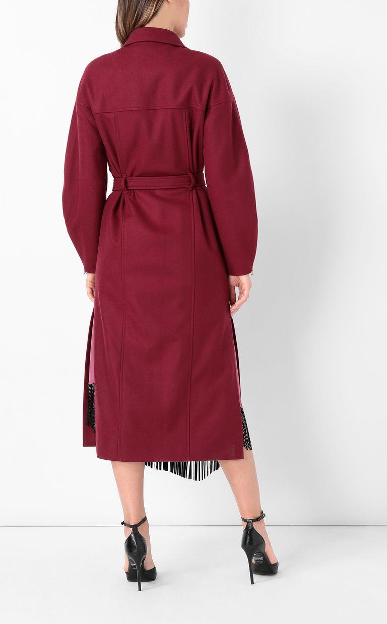 JUST CAVALLI Burgundy coat with belt Coat Woman a