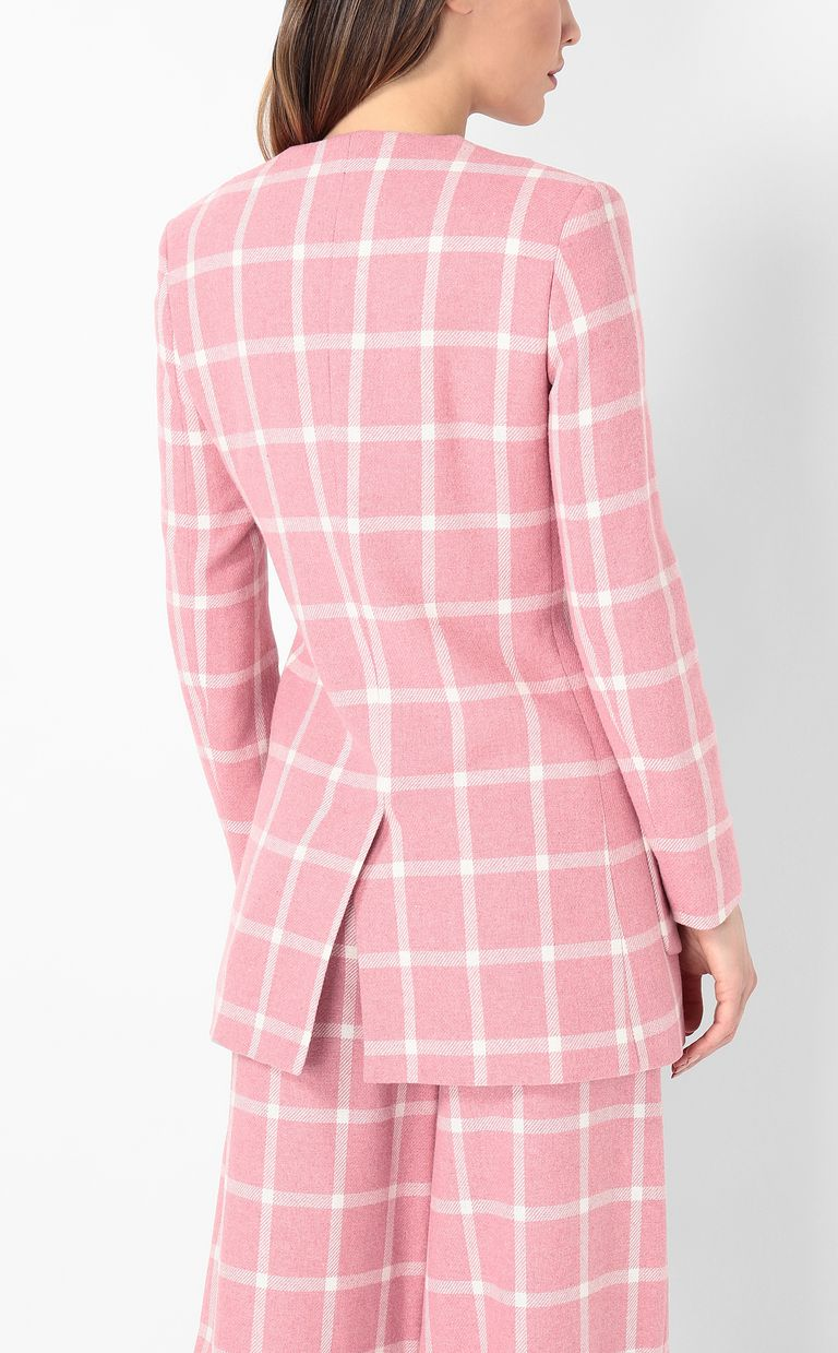 JUST CAVALLI Double-breasted tartan jacket Blazer Woman a